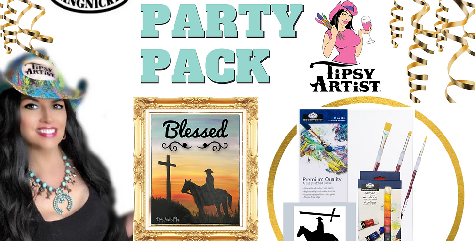 Blessed Cowboy Painting Party Pack