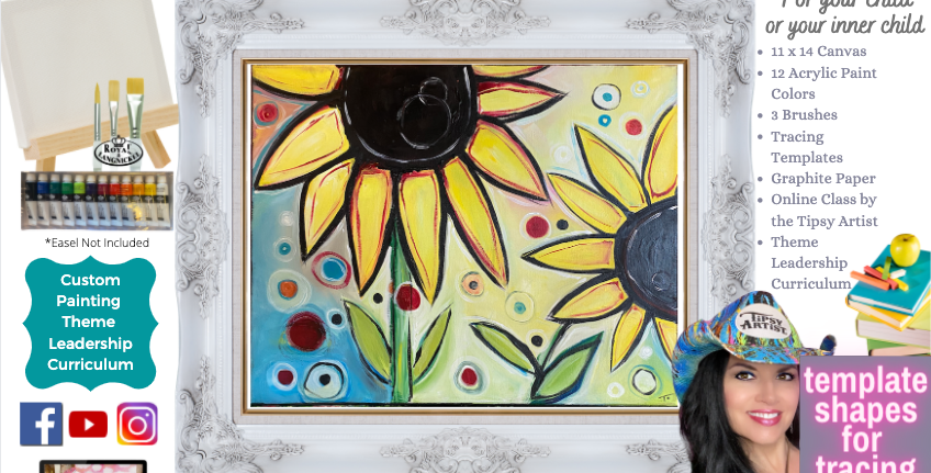 Sunflowers on a Sunny Day ~ Painting Party Pack