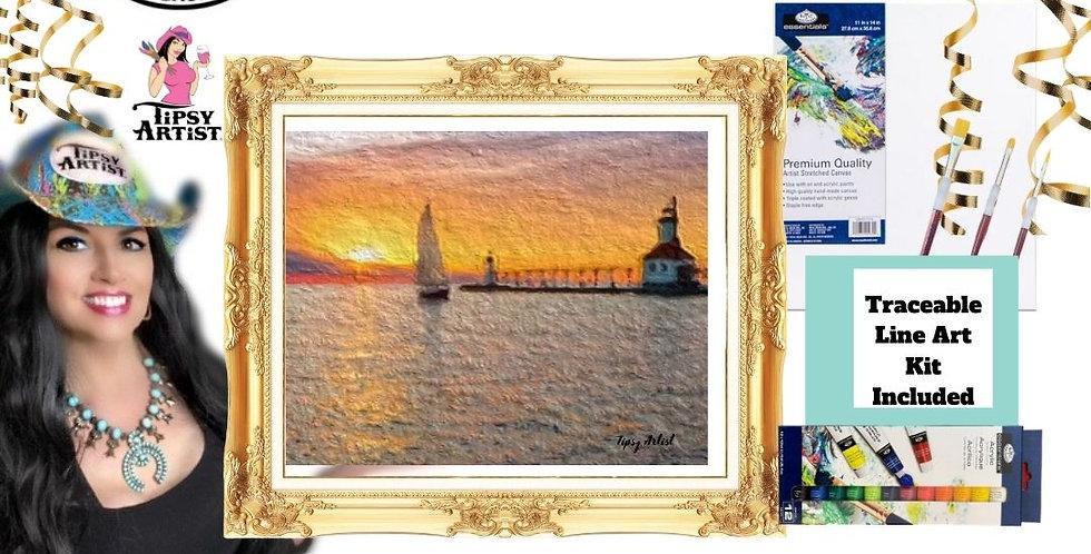 Sunset Sailing ~ Painting kit