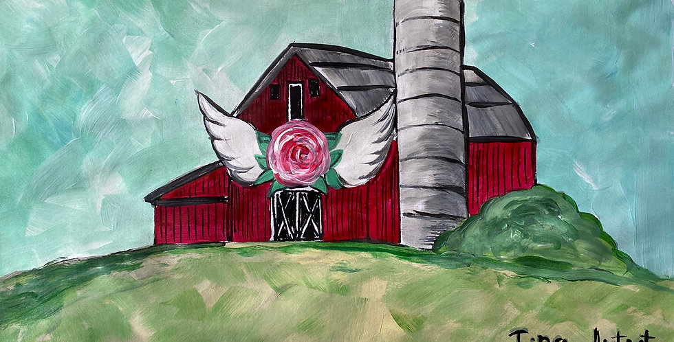 DIY Blessed Barn with Silo Line Art!