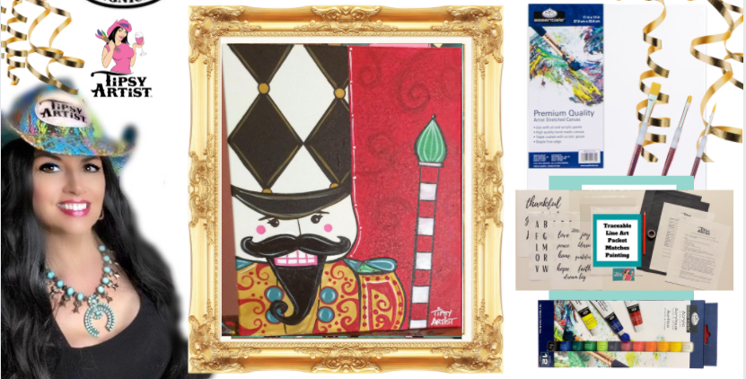 Nutcracker Painting Kit ~ Painting Party Gift
