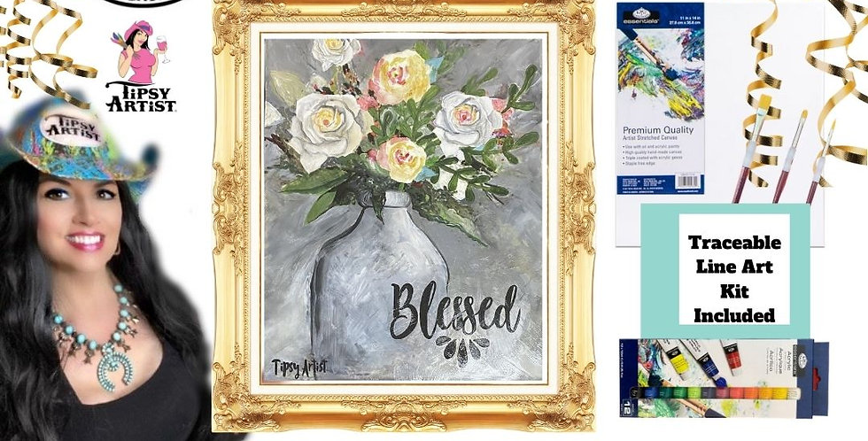 Blessed Roses  ~ Painting Kit