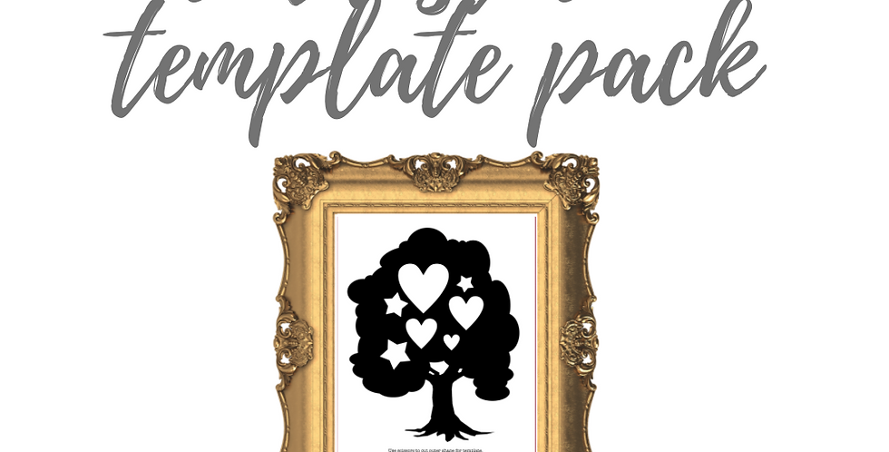 Love Tree Cardstock Template Pack with Online Video Class