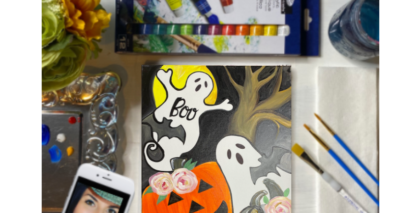 Boo Ghosts Painting Kit ~ Painting Party Gift Pack