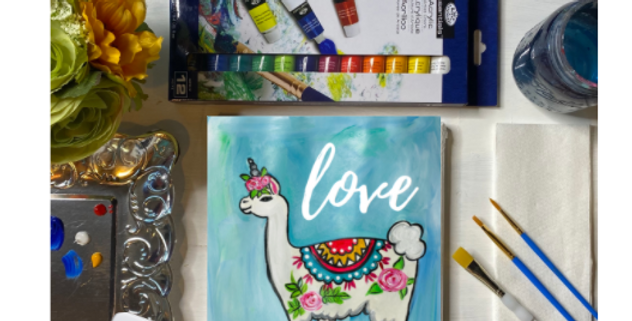 LlamaCorn Painting Kit ~ Painting Party Gift Pack