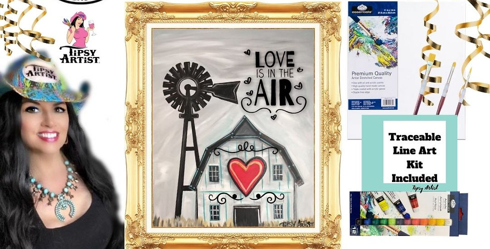 Love is in the Air Barn Painting Kit