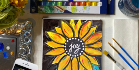 Joy Flower Painting Kit ~ Painting Party Gift Pack