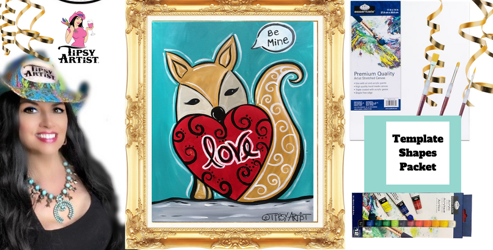Fox Love   ~ Painting Party Pack