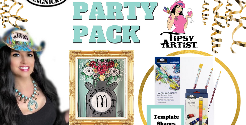 Vintage Milk Can of Roses ~ Painting Party Pack