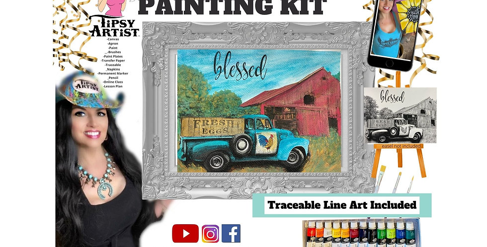 Blessed on the Farm ~ Painting Kit