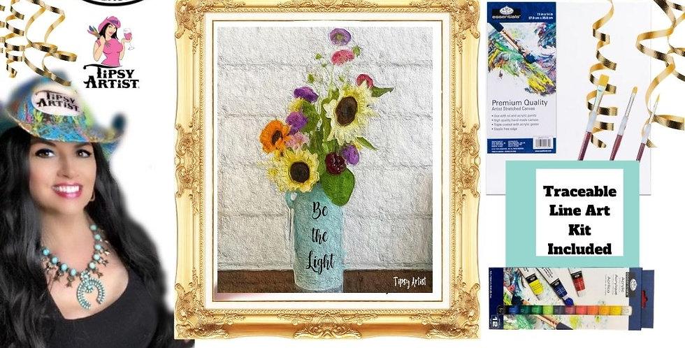 Be The Light Mason Jar ~ Painting Kit