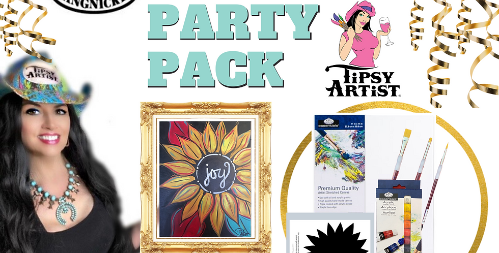 Joy Sunflower Painting Party Pack