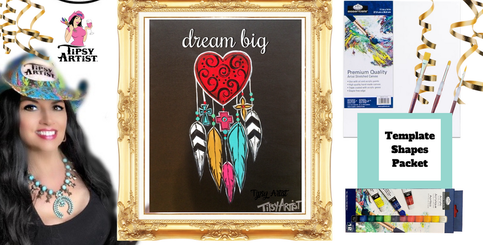 Dream Big Dream Catcher   ~ Painting Party Pack