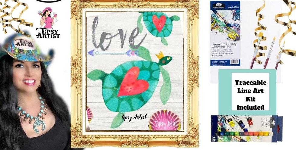 Love Sea Turtles ~ Painting Kit