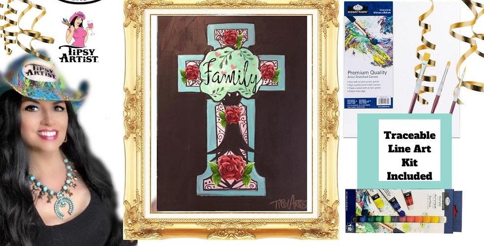 Family Tree Cross ~ Painting Kit