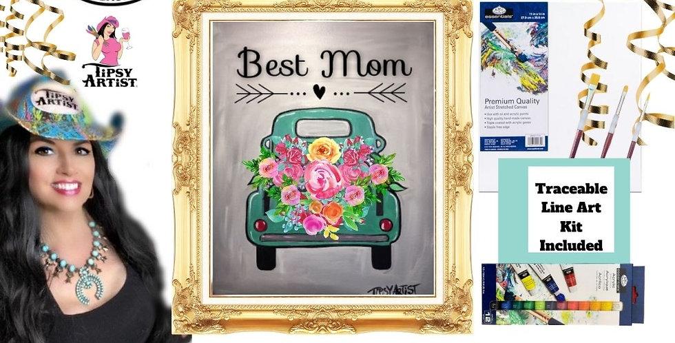 Best Mom Vintage Pickup Truck ~ Painting Kit