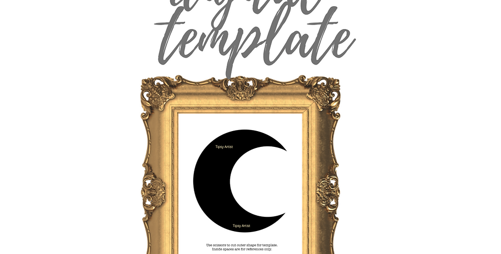 Crescent Moon  Template Pack