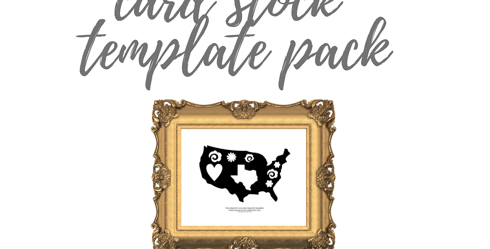 USA with Texas  Template Pack with Online Video