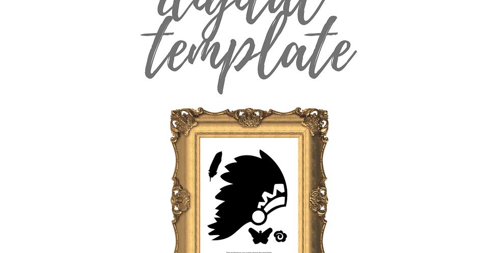 Headdress Digital Template Pack