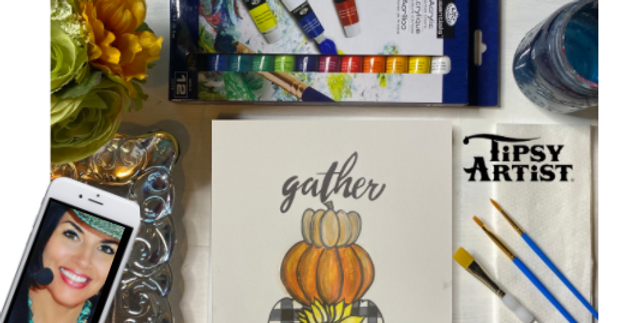 Gather Pumpkins Painting Kit ~ Painting Party Gift Pack