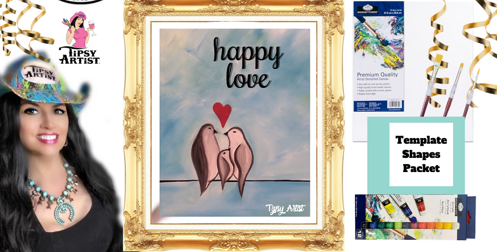 Happy Little Family  ~ Painting Party Pack