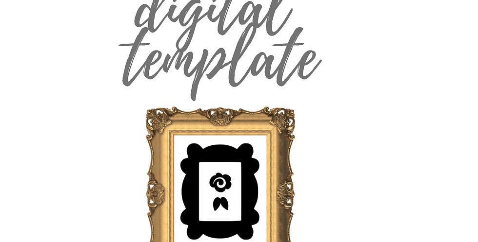Friends Gold Frame on Purple Door Digital Template Pack