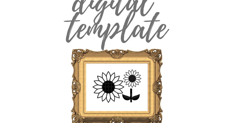 Sunflowers Digital Template Pack