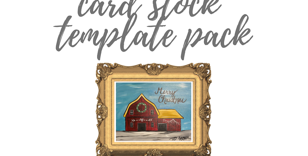 Christmas Barn Template Pack with Online Video