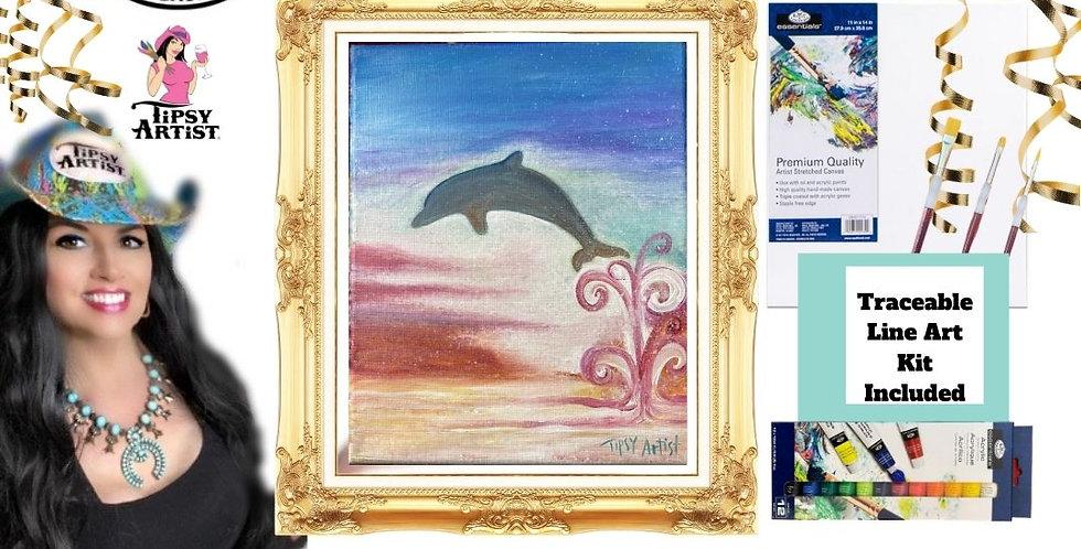 Dolphin Sunset ~ Painting Kit