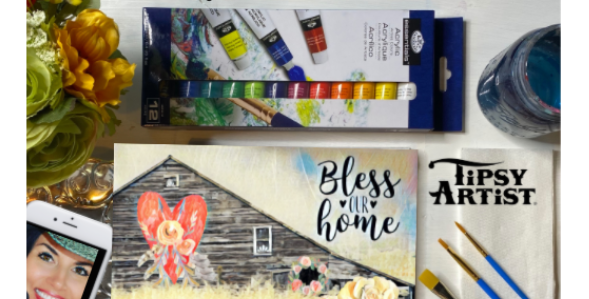 Bless Our Home Painting Kit ~ Painting Party Gift Pack