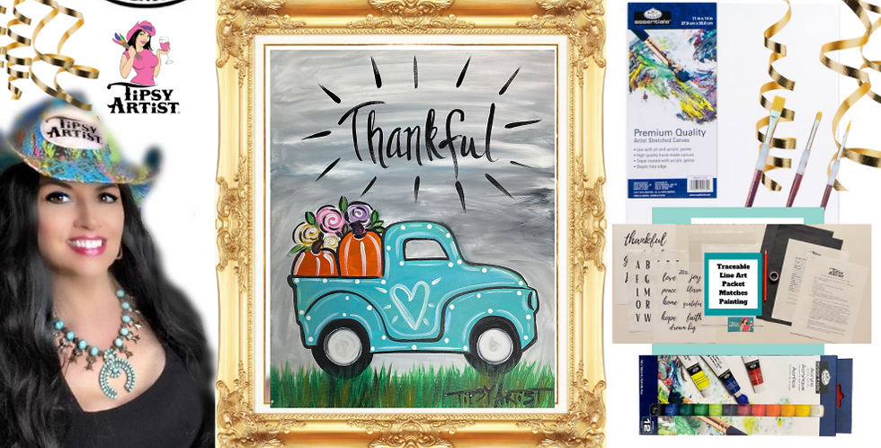 Thankful Pickup Painting Kit ~ Painting Party Gift Pack