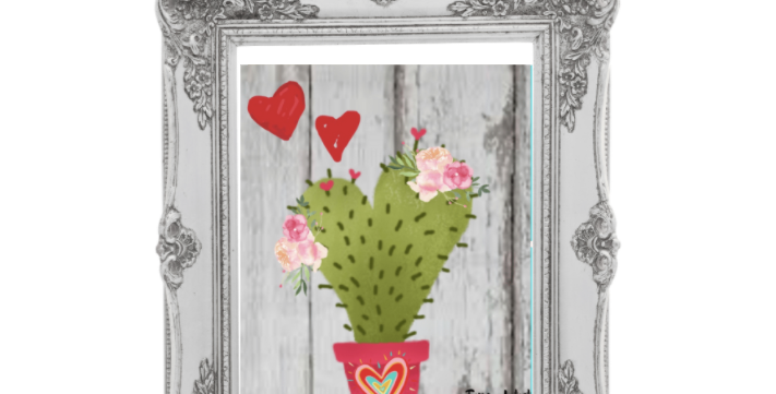 Love Cactus Traceable Pack with Graphite Paper