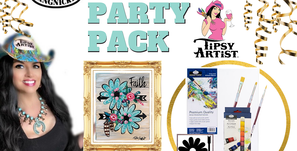 Faith Flower Power Painting Party Pack