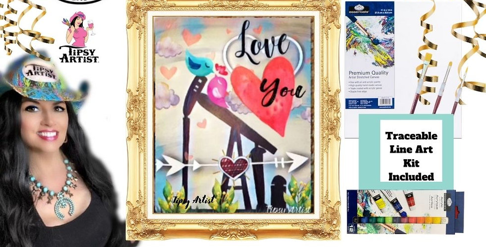 Love Birds Pumpjack ~ Painting Kit