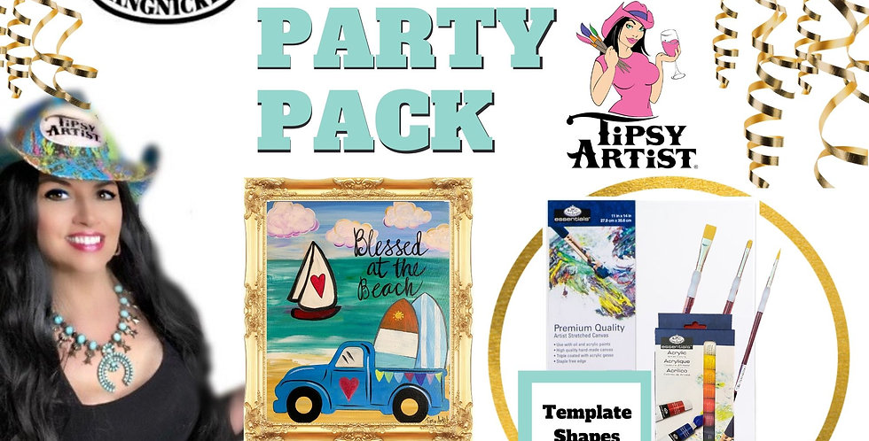 Blessed Beach & Surf Pickup ~ Painting Party Pack