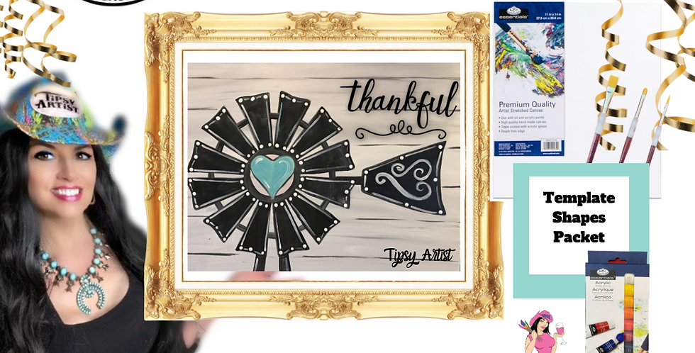 Thankful Windmill ~ Painting Party Pack