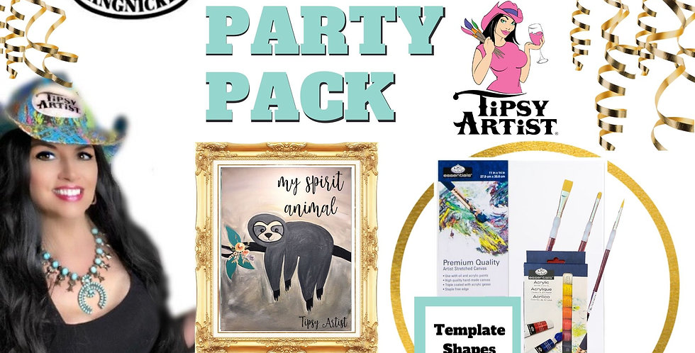 """Sloth """"My Spirit Animal"""" ~ Painting Party Pack"""