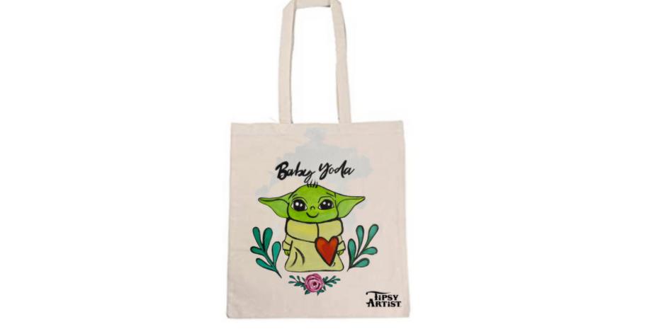 Baby Yoda Tote Bag ~ Painting Kit