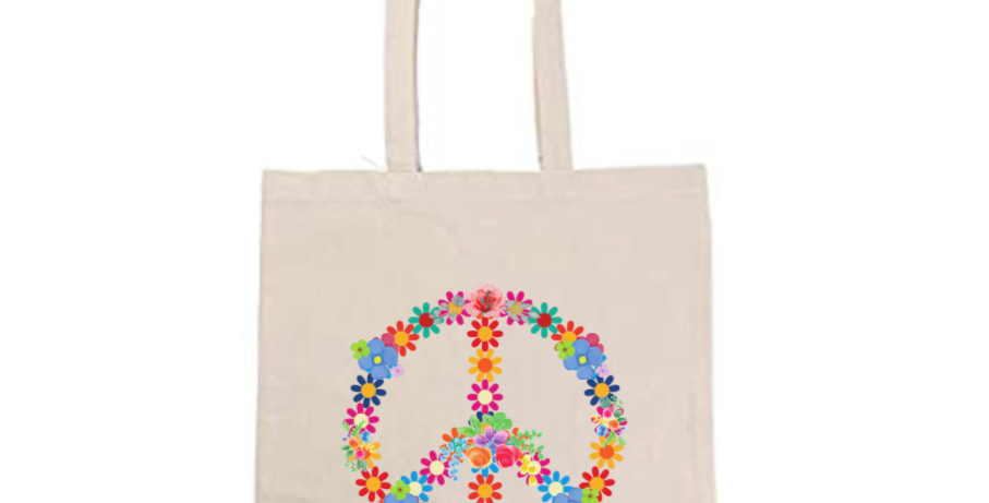 Peace Flower Sign Tote Bag ~ Painting Kit