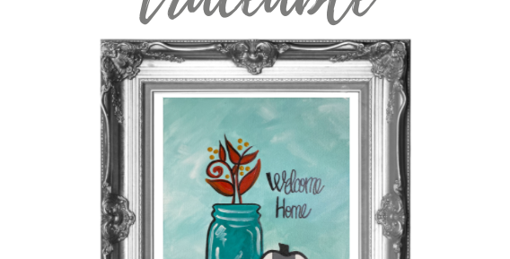 Mason Jar with Buffalo Check Pumpkin Digital Pack