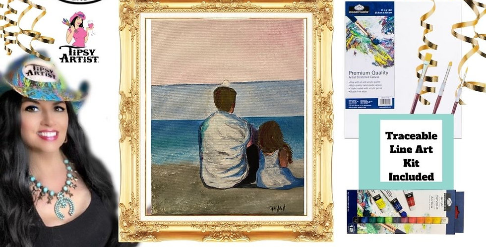 At the Beach with Dad ~  Painting Kit