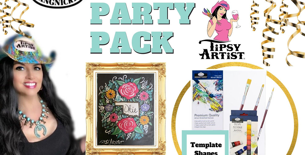 Your Custom State Wreath~ Painting Party Pack