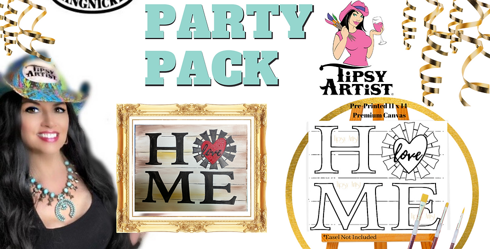 HOME DIY CANVAS Painting Party Pack