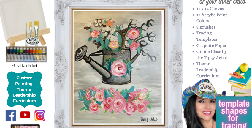 Watering Can ~ Painting Party Pack