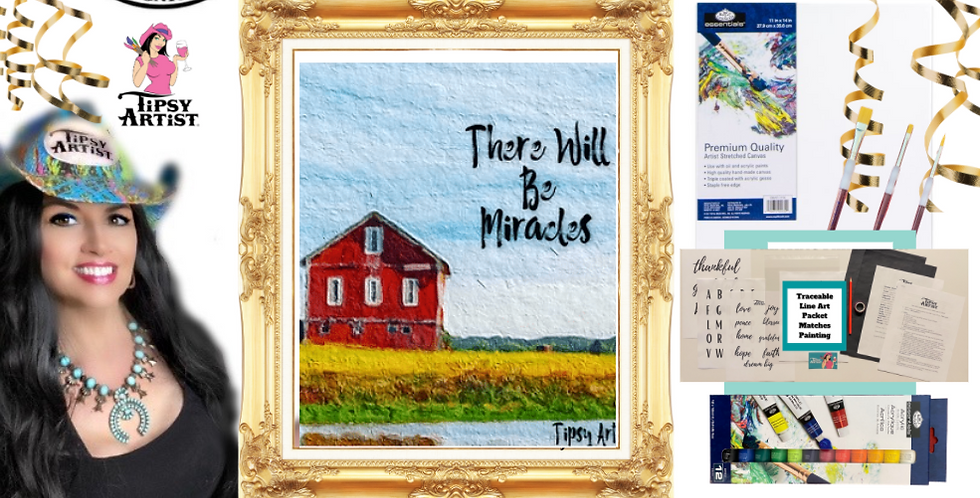 There Will Be Miracles Painting Kit ~ Painting Party Gift Pack