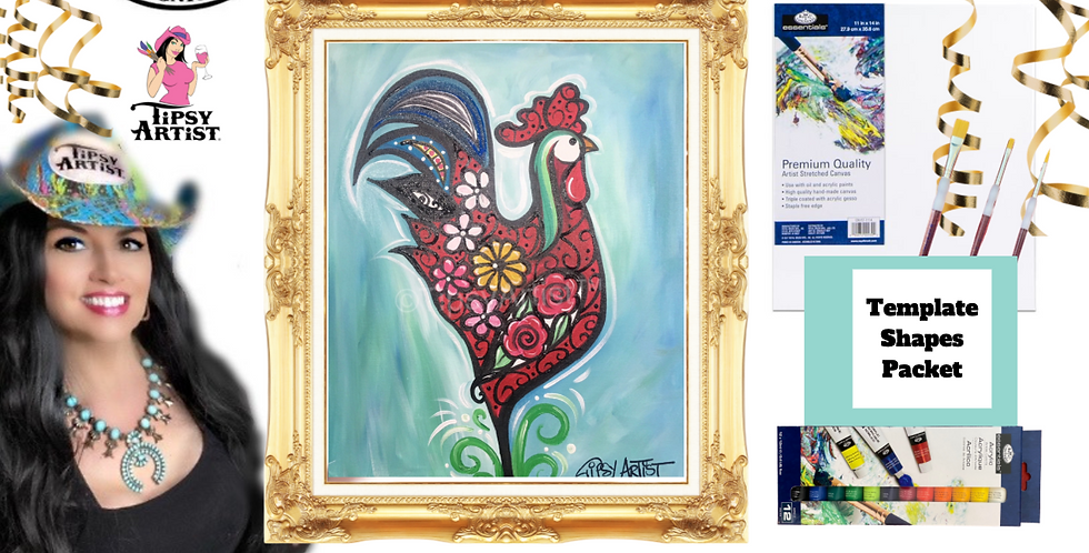 Rosy Chicken~ Painting Party Pack