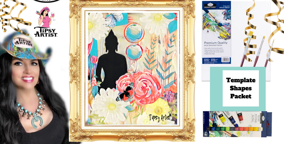Buddha Flowers of Peace ~ Painting Party Pack