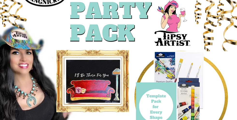 "Friends ""I'll Be There For You"" Couch Painting Party Pack"