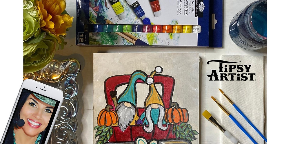 Love Fall Gnomes Painting Kit ~ Painting Party Gift Pack