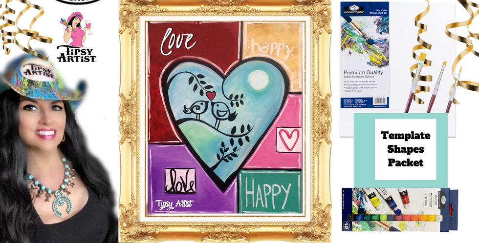 Love Birds Quilt  ~ Painting Party Pack